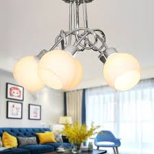 5 light chrome iron modern chandelier with glass shades hkc31391a 5
