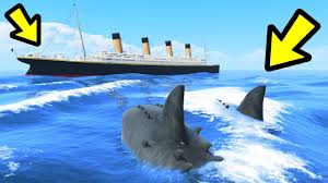 megalodon shark compared to titanic. Exellent Titanic GTA 5  The MEGALODON Shark Vs Titanic And Megalodon Compared To Titanic E
