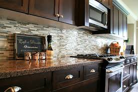 kitchen backsplash glass tile dark cabinets. Contemporary Cabinets Kitchen Backsplash Glass Tile Dark Cabinets With Ideas  For Kitchens I