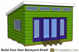 16x16 garden office shed plans