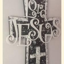 christian wood wall cross wall art black and white on black metal cross wall art with best christian wall cross products on wanelo