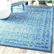 blue striped rug runner for and white living room
