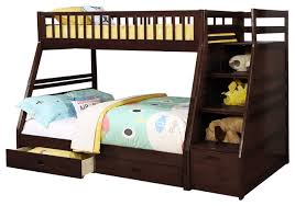 Cole Bunk Bed, Twin Over Full - Transitional - Bunk Beds - by US Tamex