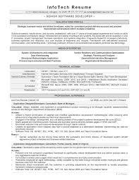 It Resume Samples Infotechresume
