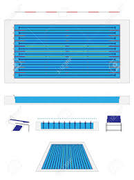 Olympic size Swimming Pool Royalty Free Cliparts Vectors And Stock
