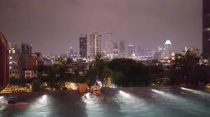Infinity pool at night Picture of PARKROYAL on Pickering