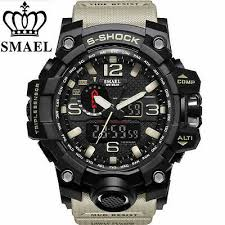 smael sport watch men digital led wristwatch mens watches top brand military tactical luminous black army relogio masculino