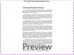the world of doublespeak essay homework academic writing service the world of doublespeak essay in his famed essay the world of doublespeak