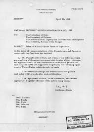 national security action memorandum john f kennedy  national security action memorandum 236