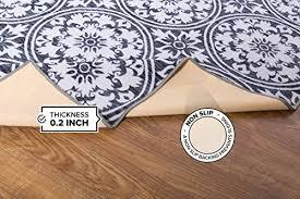 modern fl circles design non slip non skid area rug 8 x