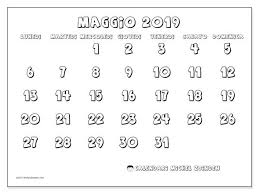 Calendario Maggio 2019 56ld Schemi Vasetti Calendario