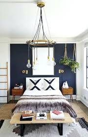 white rooms with accent walls bedroom