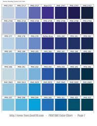 Dusky Blues Pantone Colors In 2019 Pantone Color Chart