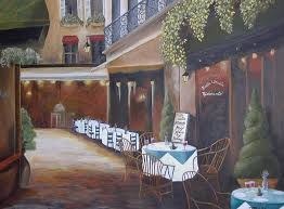 outdoor cafe painting italian street cafe by marilyn hibler