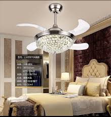 aliexpress invisible crystal chandelier fan light dining regarding awesome property fan with chandelier remodel