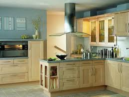 Wall Color For Kitchen Oak Wooden Kitchen Cabinet With Grey Ceramic Floor For Retro