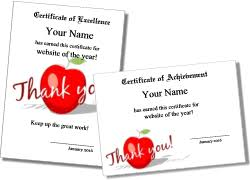 best teacher award template printable certificates for teachers