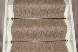 sisal herringbone pewter stair runner 65cmx7m