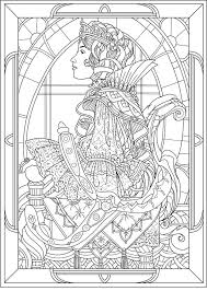 Small Picture queen art nouveau style Art nouveau Coloring pages for