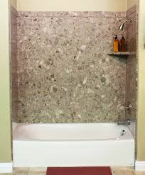 surround yourself with the luxurious look of natural stone with bathtub surround installation