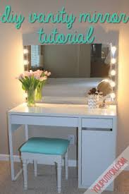 DIY Vanity Mirror Tutorial You Put It On