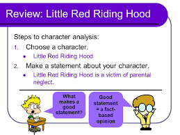 today s goals review character analysis ppt review little red riding hood