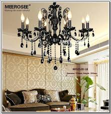 french style crystal chandelier lighting fixture 8 lights vintage black wrought iron chandelier suspension hanging light chandelier lighting black