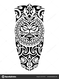 Tattoo Sketch Maori Style For Leg Or Shoulder Stock Vector
