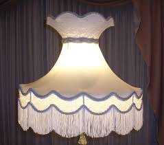 lampshade victorian crown lace silk fringe re repair