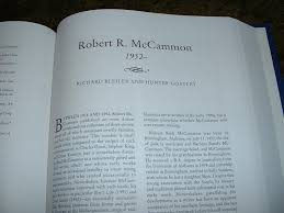 robert mccammon  robert r mccammon   a biographical essay robert r mccammon