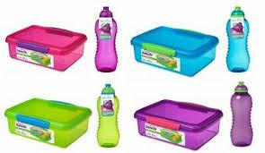 Sistema Plastic Kids School Sandwich Lunch Box with <b>460ml</b> Bottle ...