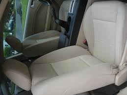 replaced cloth seat covers for leather front seats original jpg