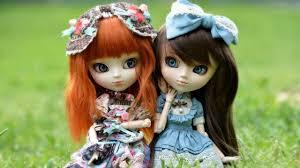 Cute Barbie Dolls On Green Grass HD ...