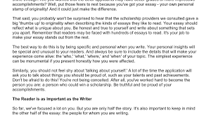 Sample Examples Of Scholarship Essays About Yourself Astonishing