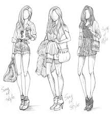 Pants Drawing Reference Fashion Sketches Teenage Girls Fashion And Hair Reference Teen