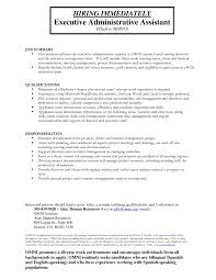 Agreeable Resumes Administrative assistant with Summary Of Qualifications  Sample Resume for Administrative
