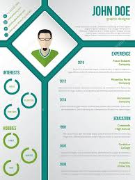 Modern Resume Templates Green Modern Cv Resume Template With Photo In Rhomb Stock Vector