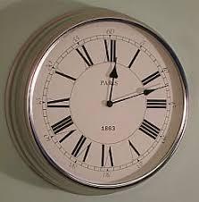 Small Picture MODERN CHROME PARIS WALL CLOCK KITCHEN CLOCK Amazoncouk