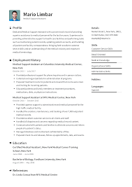 Medical Resume Medical Support Assistant Resume Templates 2019 Free