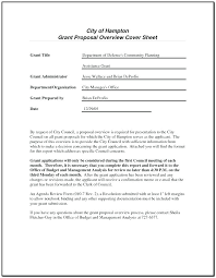 Cover Letter For Funding Proposal Sample Non Profit Grant