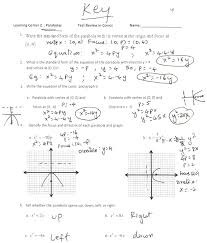 graphing parabolas equations worksheet answers jennarocca