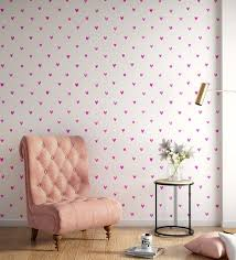 white pink happy hearts wallpaper nilaya wall coverings by asian paints