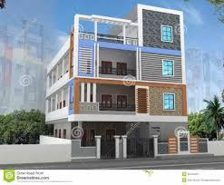 home design d building elevation design stock illustration image