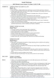 21 Import Manager Resume