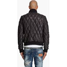 Dsquared2 Quilted Leather Bomber Jacket For Men - Polyvore & Dsquared2 Quilted Leather Bomber Jacket For Men Adamdwight.com