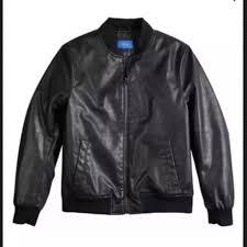 nwt apt 9 mens er faux leather jacket slim fit