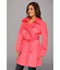 jessica simpson plus size coats fresh lyst jessica simpson plus size ruffle trim belted trench coat