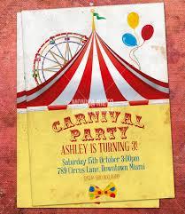 Printable Carnival Invitation Templates Download Them Or Print