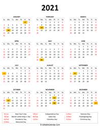 In this modern era, we have all become very busy as we are forgetting many important functions. Printable Yearly Calendars 2021