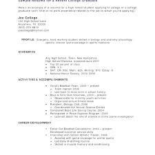 Recent College Graduate Resume template Recent College Graduate Resume Template 70